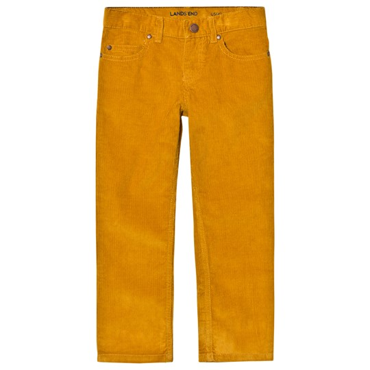 Lands' End Dried Mustard 5 Pocket Corduroy Trousers Dried Mustard P92
