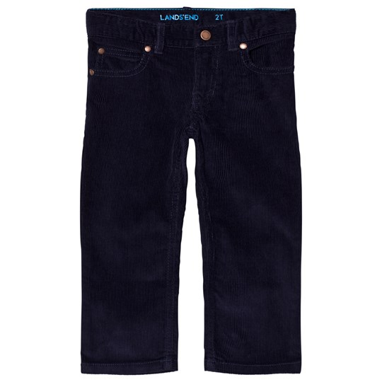 Lands' End Navy 5 Pocket Corduroy Pants Midnight Sapphire E7B