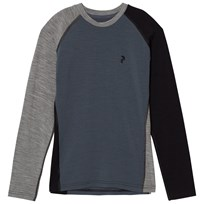 Peak Performance Blue Long Sleeve Baselayer Top 2Z8 Blue Steel