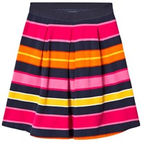 Lands End Pink Multi Stripe Ponte Skirt Pink Multi Stripe PSI