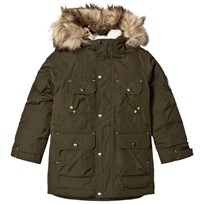 Lands End Dark Green Expedition Down Parka Mossy Bark 27Q