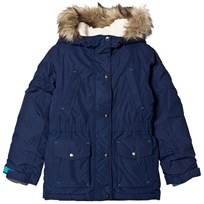 Lands End Navy Expedition Down Parka Deep Sea HME