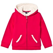 Lands End Red Berry Solid Sherpa Hoodie Spiced Berry ZUT