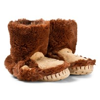Hatley Monkey Fuzzy Slouch Slippers Monkey
