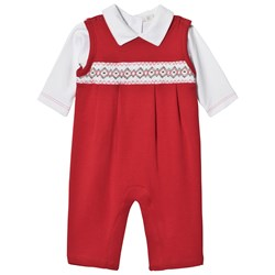 Kissy Kissy Overall and Baby Body Holiday Set