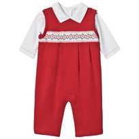 Kissy Kissy Overall and Baby Body Holiday Set WHRD