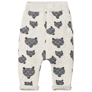 Image of Tootsa MacGinty Grey Bear Print Allover Quilted Sweatpants 4-5 years (2756997167)