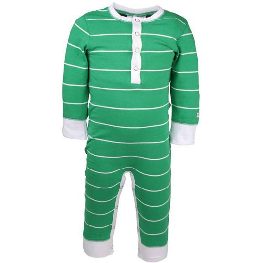 ebbe Kids Fares Bodysuit Green/White y/d Stripe  White
