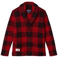 Ralph Lauren Red Shawl Cardigan 001