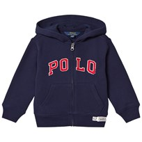 Ralph Lauren Blue Polo Zip Hoody with Small Polo Player 002