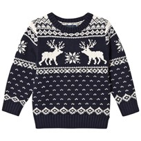 Ralph Lauren Navy Reindeer Sweater 001