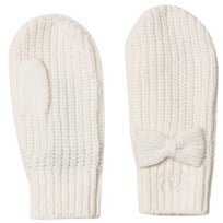 Ralph Lauren Cream Bow Mittens 001