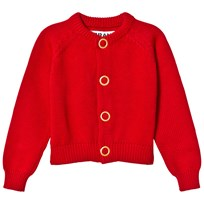 The BRAND Puff Knit Cardigan Red Melange Red Melange
