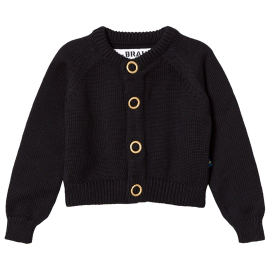 The BRAND Puff Knit Cardigan Black Black