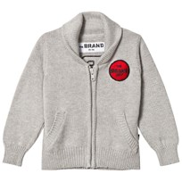 The BRAND Retro Knit Cardigan Grey Melange Grey Melange