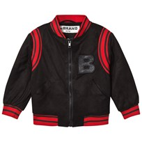The BRAND Varsity Suede-Effect Jacket Black Suede