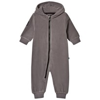 The BRAND Bolt Fleece Onesie Graphite Grey Graphit Grey With Black Leather Bolt