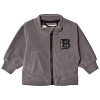 The BRAND Bolt Fleece Sweater Graphite Grey Graphit Grey With Black Leather Bolt