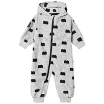 The BRAND B-Moji Fleece Onesie Grey Melange Grey Mel With B-Moji AOP