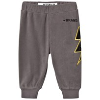 The BRAND Bolt Fleece Pants Graphite Grey Graphit Grey With Black Leather Bolt