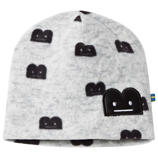 The BRAND B-Moji Fleece Hat Grey Melange Grey Mel With B-Moji AOP