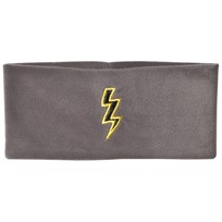 The BRAND Bolt Fleece Headband Graphite Grey Graphit Grey With Black Leather Bolt