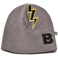 The BRAND Bolt Fleece Hat Graphite Grey Graphit Grey With Black Leather Bolt