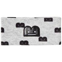The BRAND B-Moji Fleece Headband Grey Melange Grey Mel With B-Moji AOP