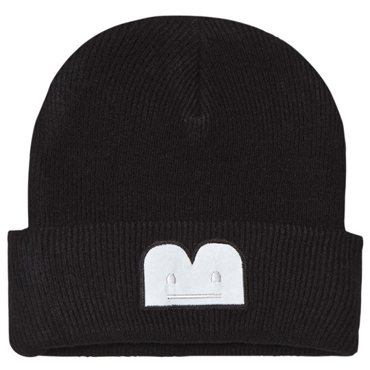 The BRAND B-Moji Strikket Hatt Svart Black With Reflex B-Moji