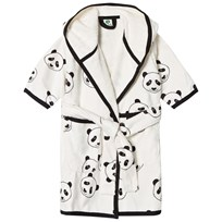 Småfolk White Panda Print Bathrobe Cream-199