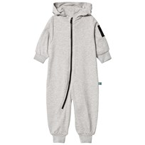 The BRAND Bolt Onesie Grey Melange Grey Mel With Pink Brand and BlackYellow Bolt