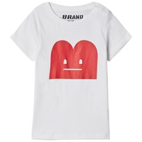 The BRAND B-Moji Tee White White With Red B-Moji