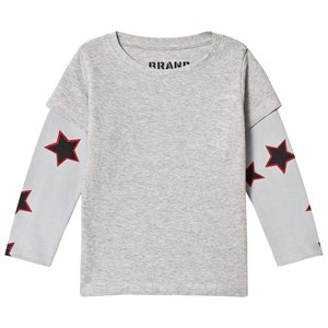 Image of The BRAND Allstar Double Tee Grey Melange 104/110 cm (2756995755)