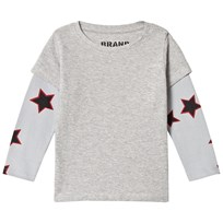 The BRAND Allstar Double Tee Grey Melange Grey Mel With Red Allstar Sleeves