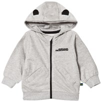 The BRAND Baby Face Hoodie Grey Melange Face Grey Mel With Face