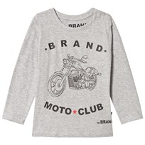The BRAND Moto Club Tee Grey Melange Grey Mel