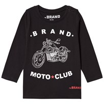 The BRAND Moto Club Tee Black Black