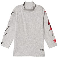 The BRAND Polo Bolt Tee Grey Melange Grey Mel With Red Stars