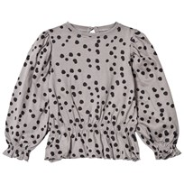 The BRAND Princess Top Grey Dot Grey Dot