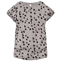 The BRAND Draped Tee Grey Dot Grey Dot