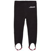 The BRAND Leggings with Elastic Straps Black Black With Red Elastic Strap
