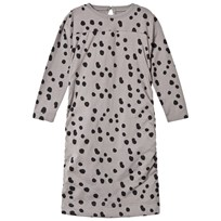 The BRAND Draped Balloon Dress Grey Dot Grey Dot