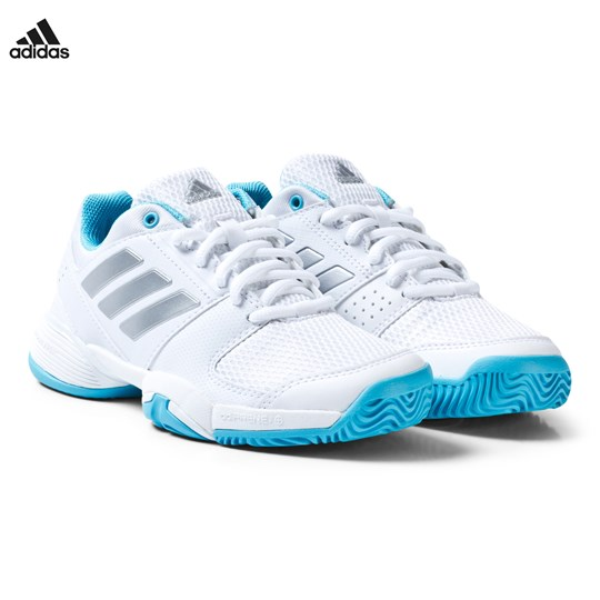 adidas Performance White Blue Barricade Tennis Trainers White