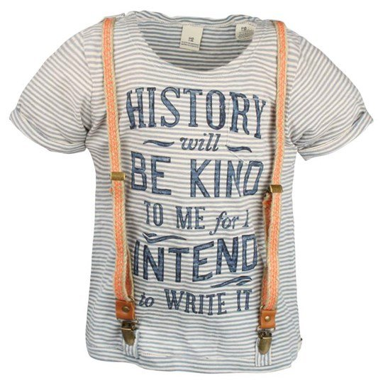 Scotch & Soda Striped Tee with Suspenders Blue