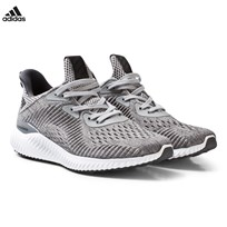 adidas Performance Grey Alphabounce Junior Trainers GREY FIVE F17/GREY TWO F17/FTWR WHITE