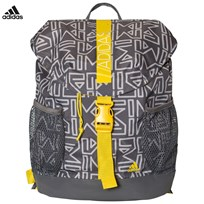 adidas Performance Grey Abstract Print Backpack GREY TWO F17/GREY FOUR F17/YELLOW