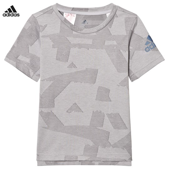 adidas Performance Printed Performance Training T-shirt Grå GREY TWO F17/GREY THREE F17