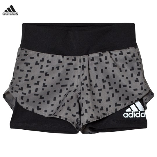 adidas Performance Printed Running Shorts Grå GREY FOUR F17/BLACK