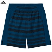adidas Performance Navy Printed Training Shorts BLUE NIGHT F17/BLACK