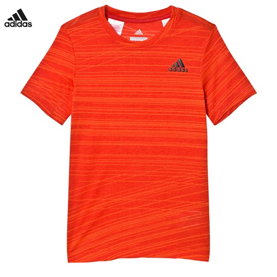 adidas Performance Aero Performance Tee Red/Orange SCARLET